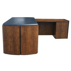 Mid Century Oak and Leather Desk by Lydia dePolo for Dunbar