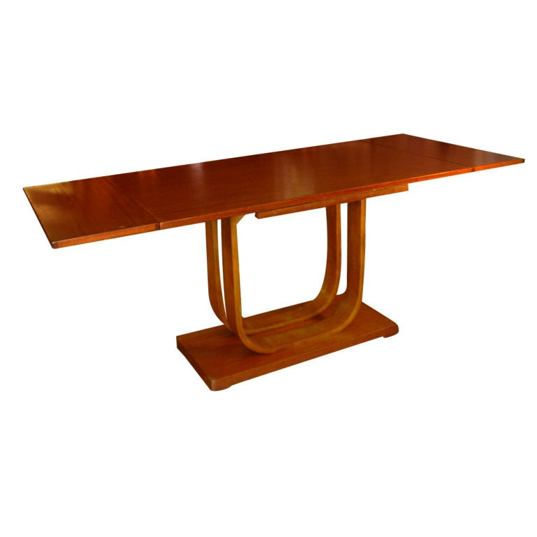 Art Deco Gilbert Rohde Heywood Wakefield Extension Dining Table For Sale