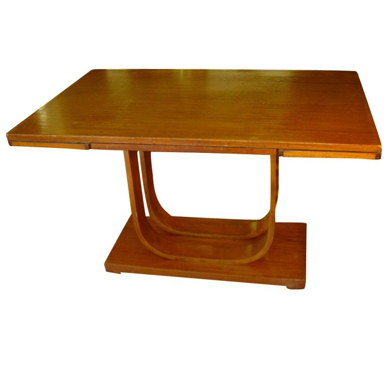 American Art Deco Gilbert Rohde Heywood Wakefield Extension Dining Table For Sale