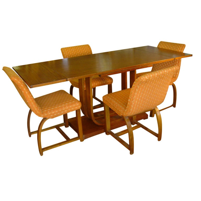 art deco gilbert rohde heywood wakefield extension dining