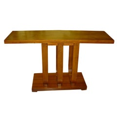 Art Deco Gilbert Rohde Heywood Wakefield Console Dining Table
