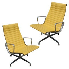 Pair Of Eames For Herman Miller Aluminum Group Lounge Chairs