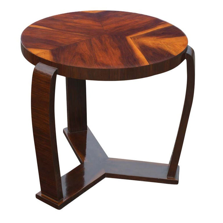 Art Deco Exotic Wood Side Table at 1stdibs