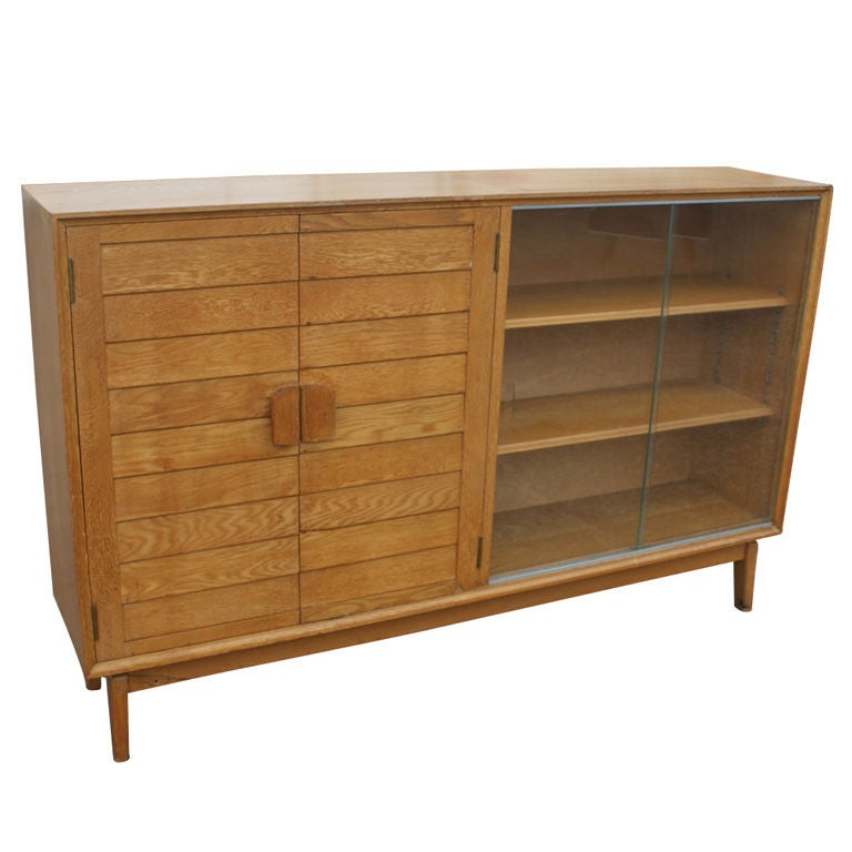 mid century oak china display cabinet for sale at 1stdibs