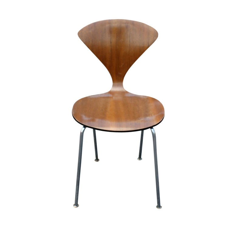 Six Norman Cherner For Plycraft Dining Side Chairs At 1stdibs