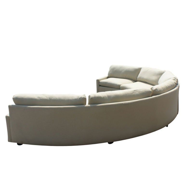 Milo Baughman For Thayer Coggin Semi Circular Sectional At