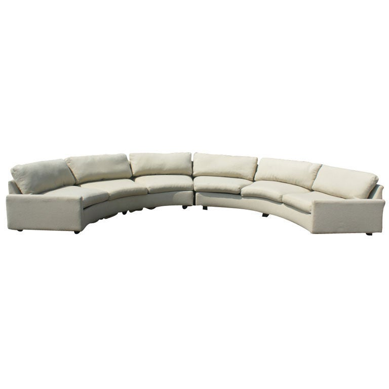 Milo Baughman For Thayer Coggin Semi-Circular Sectional 1