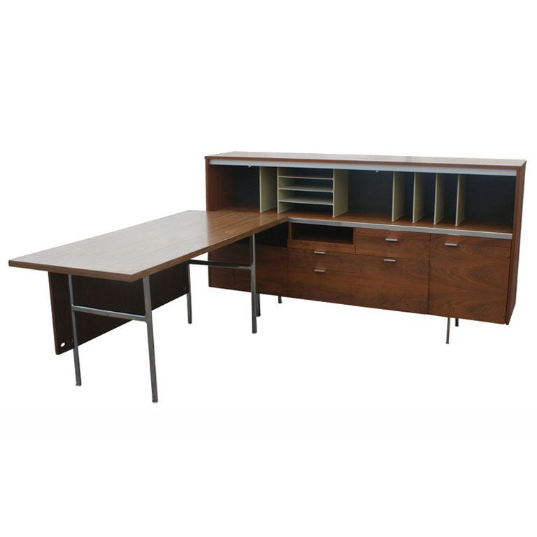 George Nelson For Herman Miller Desk And Credenza For Sale