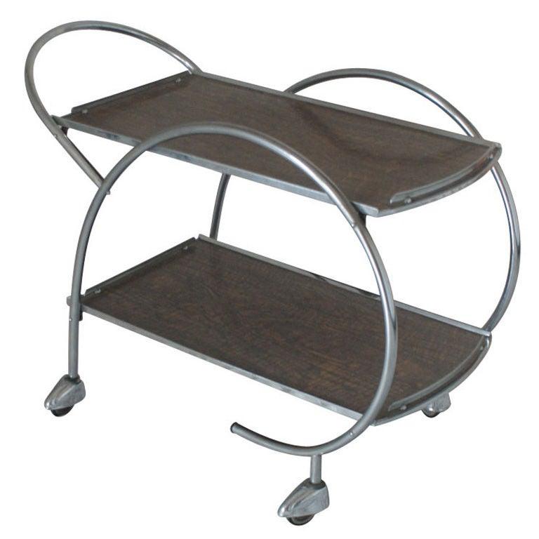 Art Deco Tea Trolley Bar Cart At 1stdibs