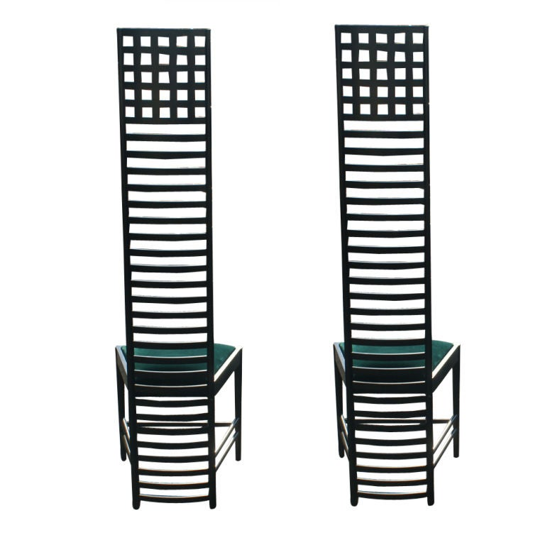 Pair Charles Rennie Mackintosh Hill House Chairs By Cassina At 1stdibs
