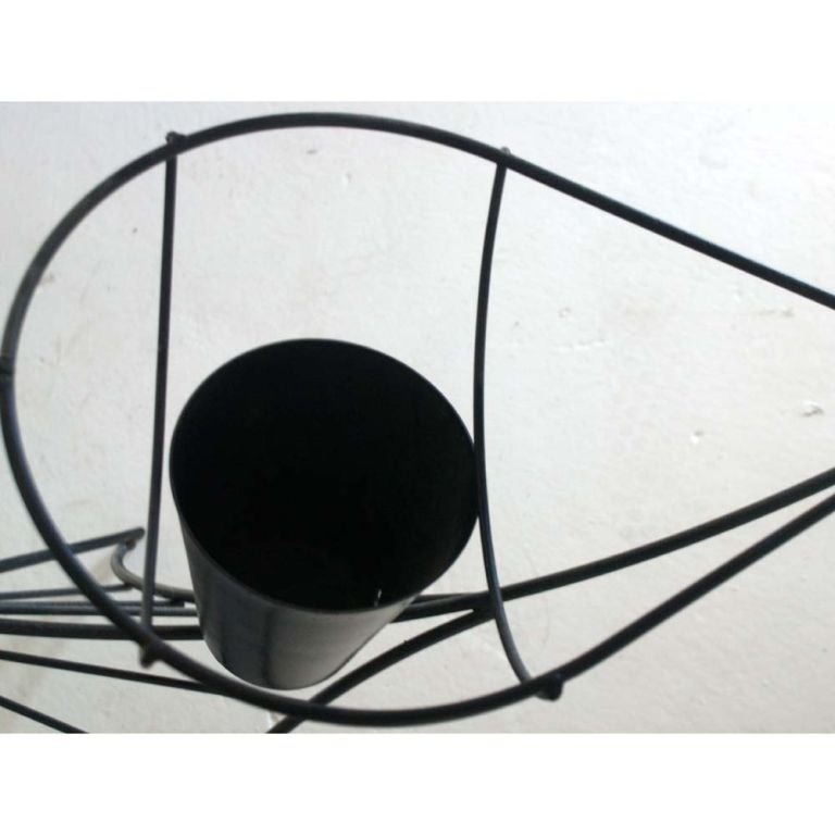 American Frederick Weinberg Black Iron Fish Sculpture For Sale