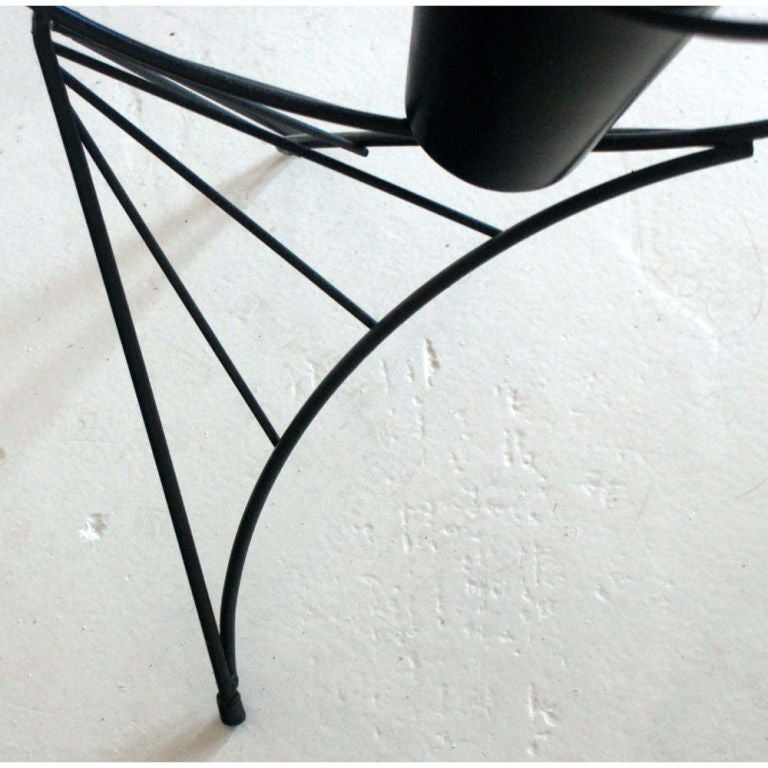 Frederick Weinberg Black Iron Fish Sculpture In Good Condition For Sale In Pasadena, TX
