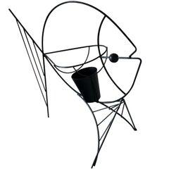 Frederick Weinberg Black Iron Fish Sculpture