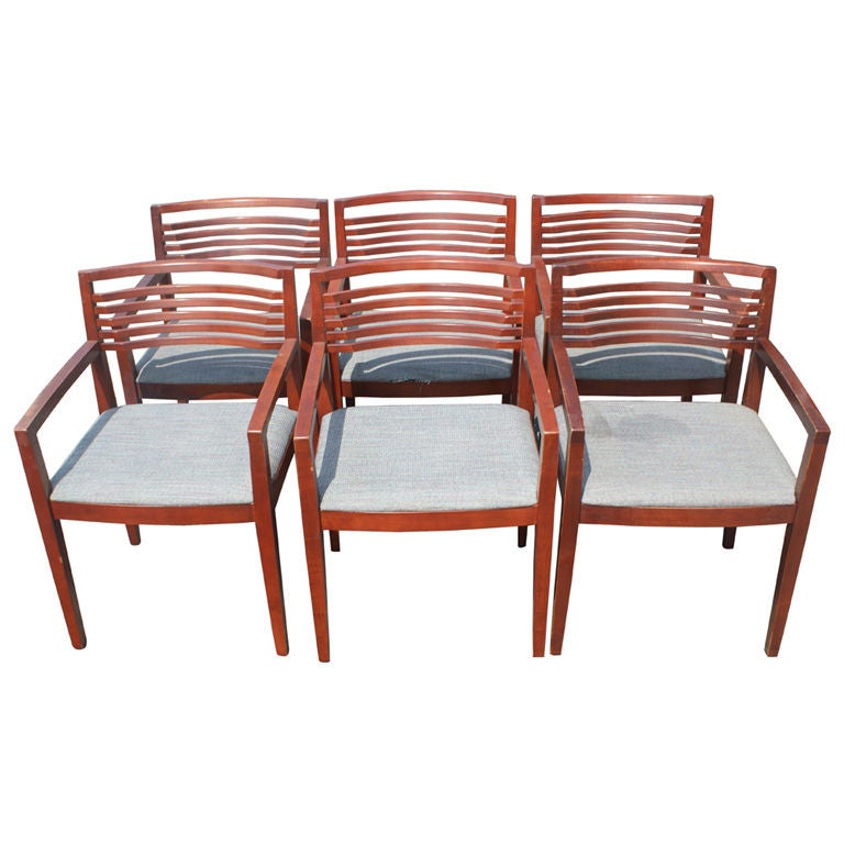 six joe and linda ricchio for knoll arm chairs at 1stdibs