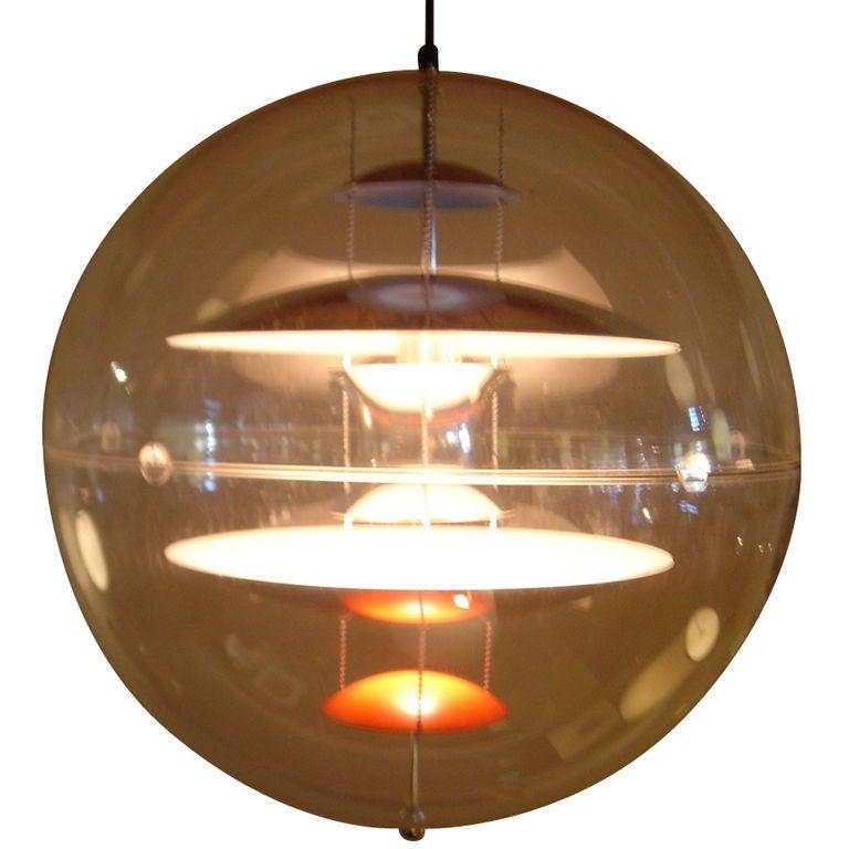 Vintage Large Verner Panton for Louis Poulsen Globe Light