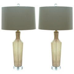 Pair of Murano Lamps a la Beverly Hills Hotel