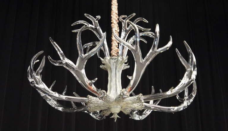 Stunning Huge Crystal Antler Chandelier By Jason Lawson At 1stdibs