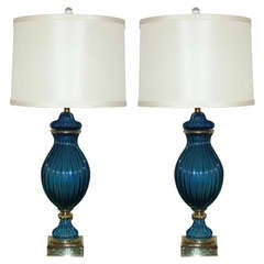 Pair (Matched) of Vintage Murano Lamps by The Marbro Lamp Company