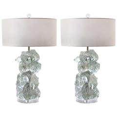 Clear Rock Candy Lamps by Swank Lighting