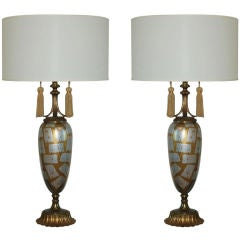 Gold and Silver Glass Table Lamps