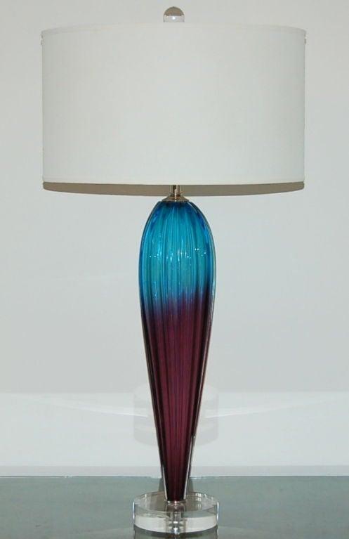 A Two Tone Opaline Murano Teardrop Lamp At 1stdibs