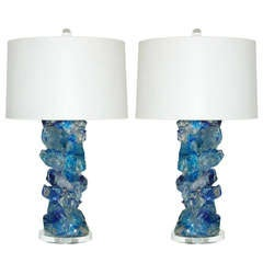 Cobalt Rock Candy Lamps by Swank Lighting