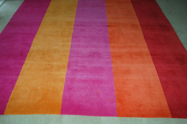 Rug/Carpet Woven Wool Room Size Contemporary Stripes 2