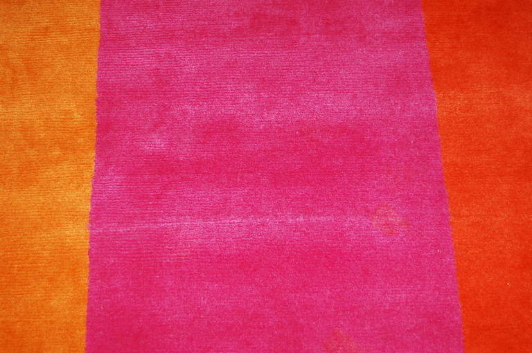 Rug/Carpet Woven Wool Room Size Contemporary Stripes 4
