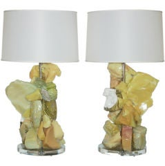Contemporary Rock Candy Lamps by Swank in Tropical Fruit