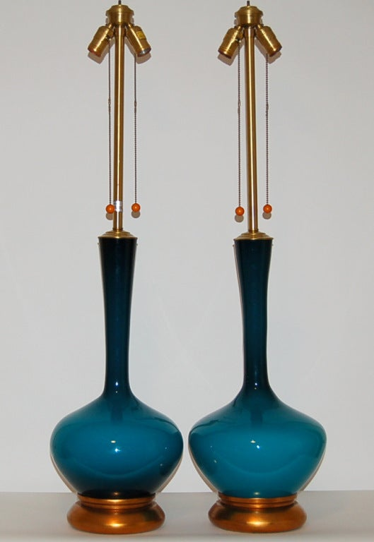 marbro lamp company vintage handblown swedish glass lamps for sale at. Black Bedroom Furniture Sets. Home Design Ideas
