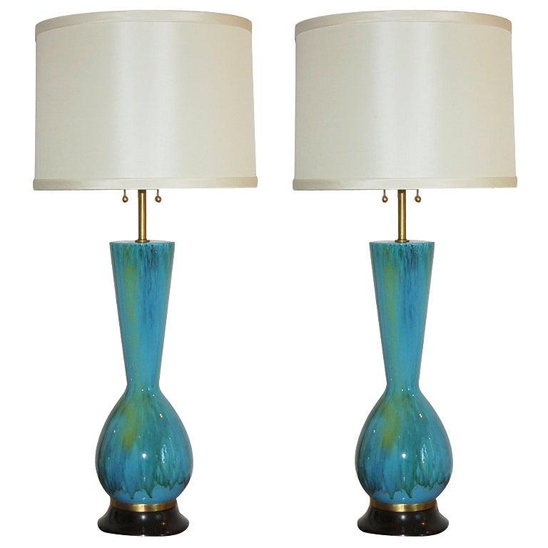 The Marbro Lamp Company - Pair of Vintage Italian Ceramic Lamps 1