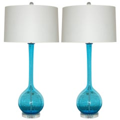 Pair of Vintage Murano Long Neck Lamps