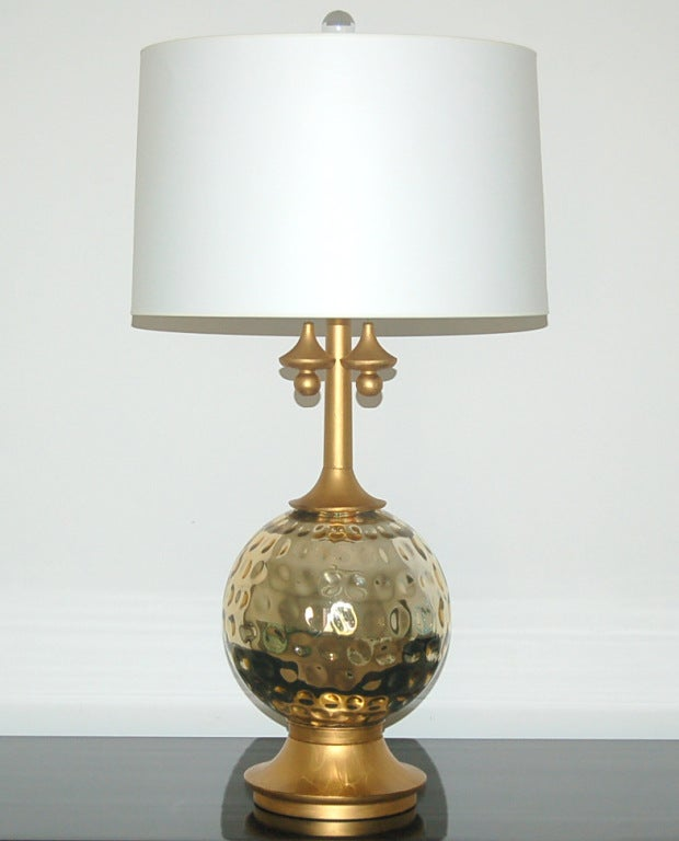 pair of vintage mercury glass lamps in champagne for sale at 1stdibs. Black Bedroom Furniture Sets. Home Design Ideas
