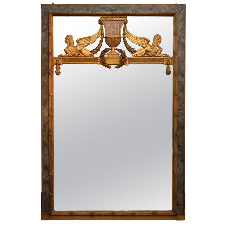 Large neo classic mirror at 1stdibs for Classic mirror