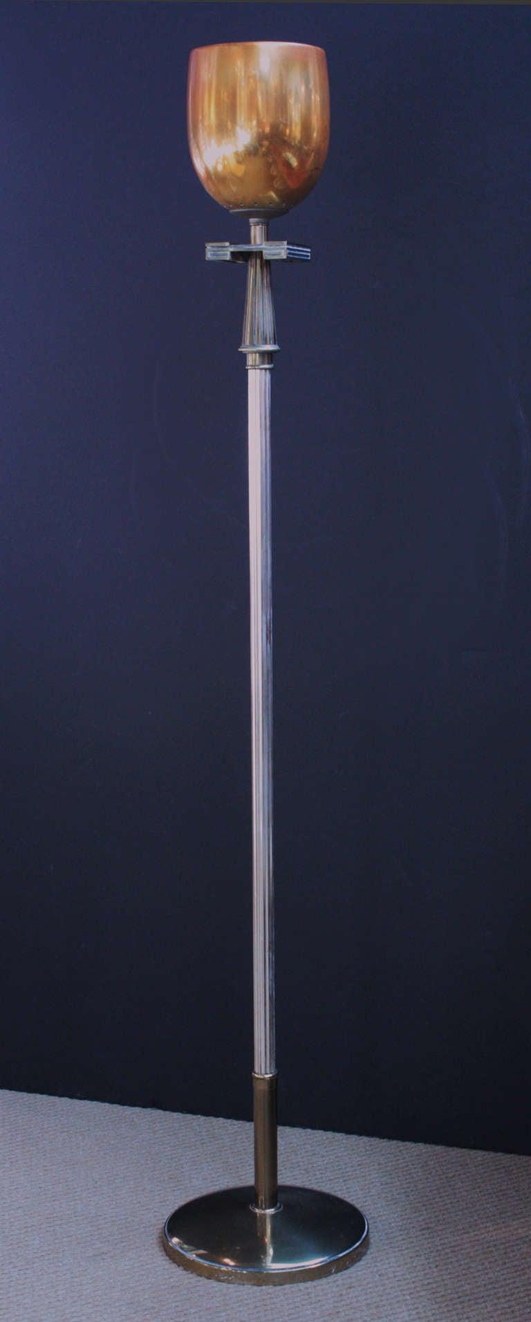 Mid Century Floor Lamp Torchiere At 1stdibs