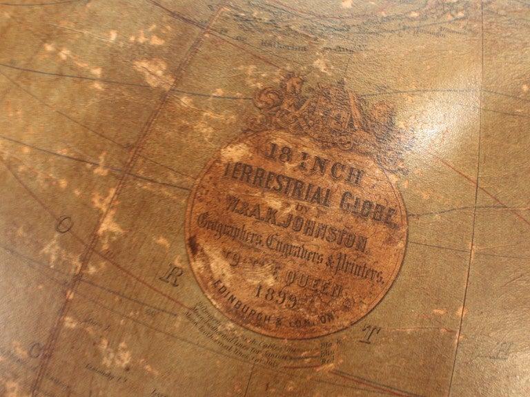 18 Inch Terrestrial Globe by W. & A. K. Johnston 4