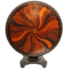 Anglo-Indian, Ceylonese Ebony and Specimen Wood Centre Table