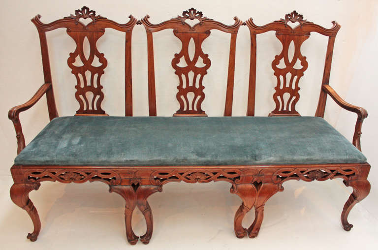18th century Continental Chair Back Settee in the George II Taste 3
