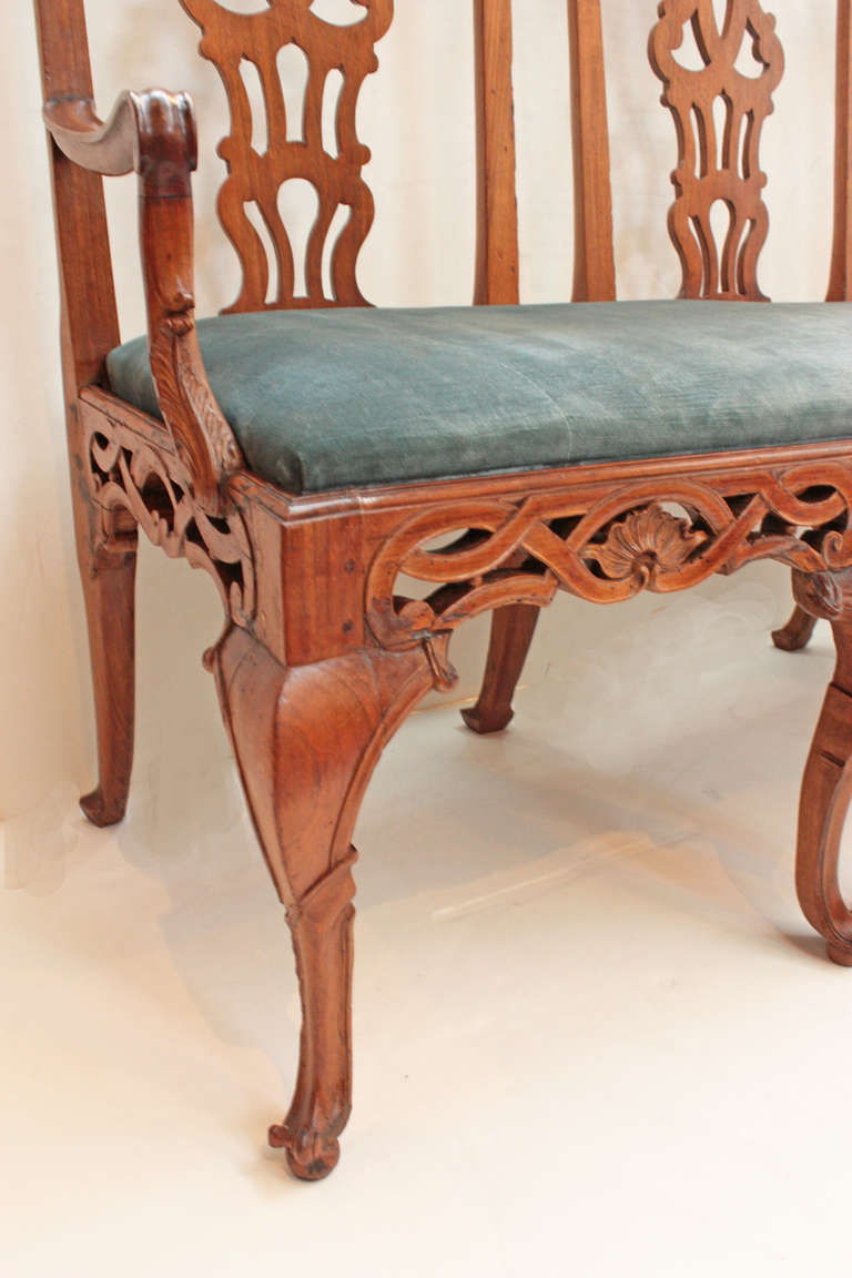 18th century Continental Chair Back Settee in the George II Taste 6