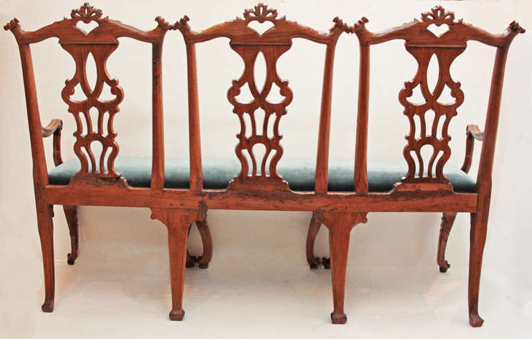 18th century Continental Chair Back Settee in the George II Taste 7