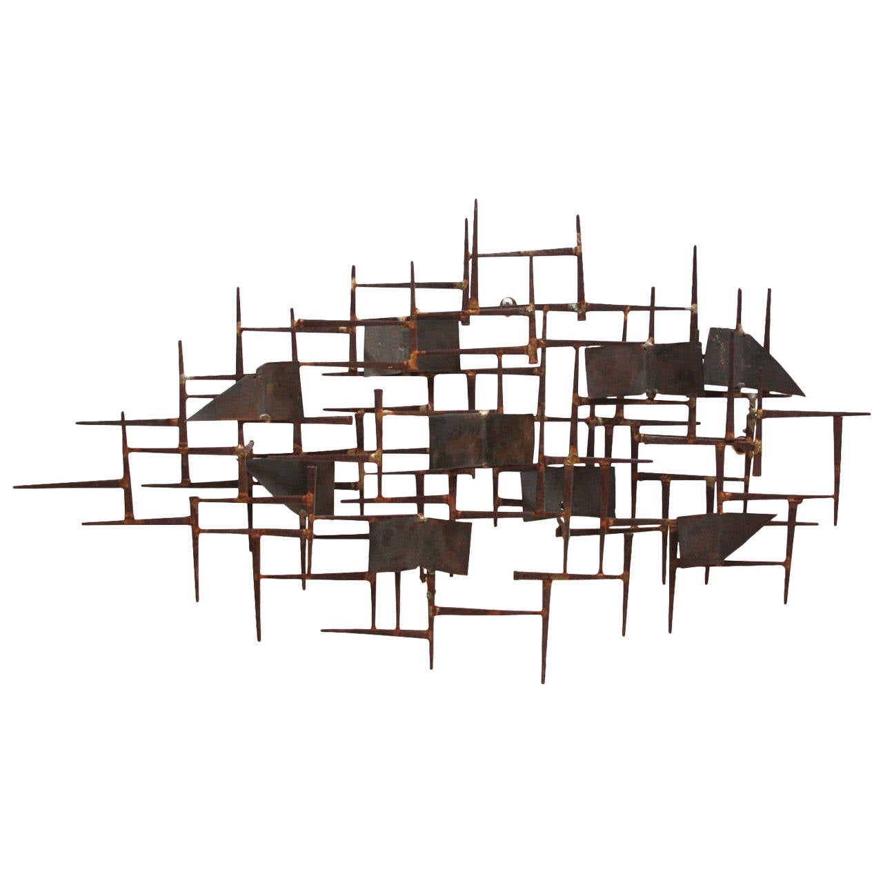 Mid Century Modern Wall Sculpture After William Bowie For Sale