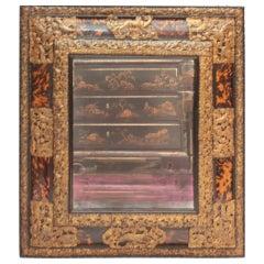 Early 18th Century Dutch Baroque Tortoise Mirror