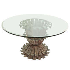 Bronze Base Round Dining Table