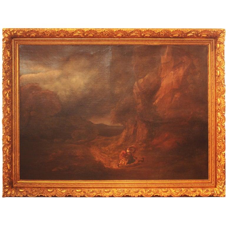 Large 18th Century Oil on Canvas Italian Landscape 1
