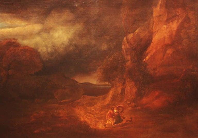 Large 18th Century Oil on Canvas Italian Landscape 2