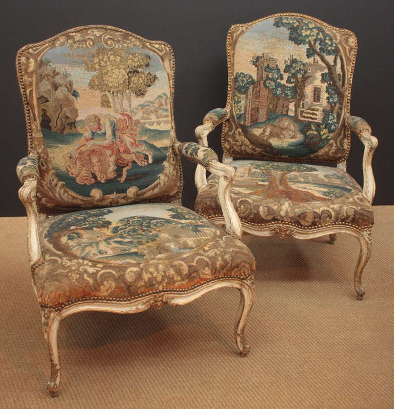 Pair of 18th Century Armchairs in Original Tapestry 3