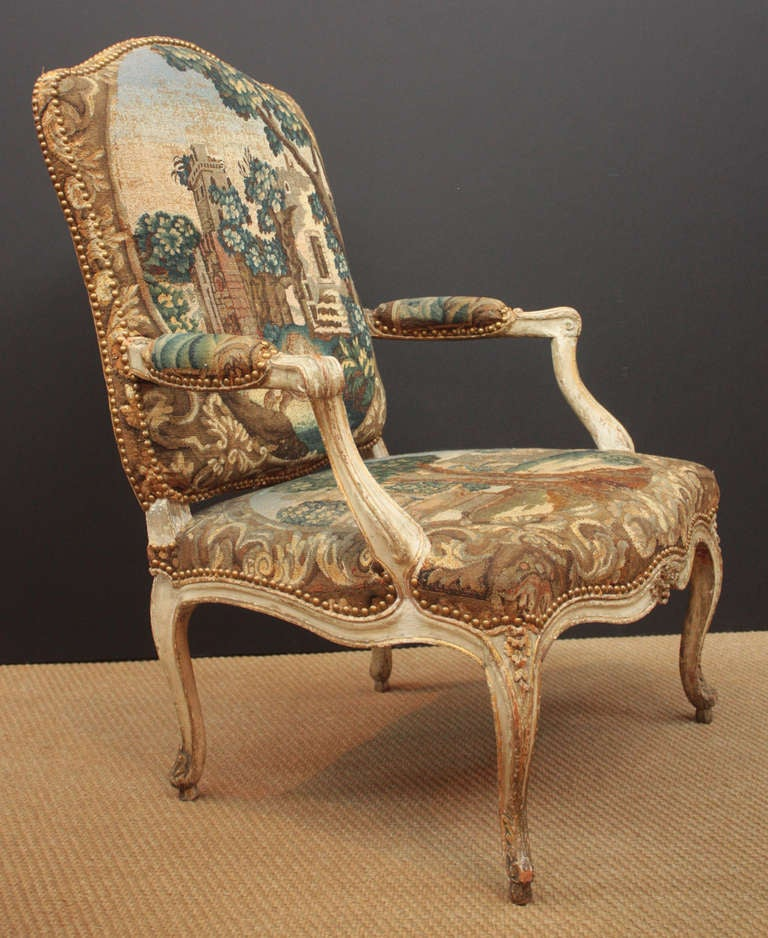 Pair of 18th Century Armchairs in Original Tapestry 4