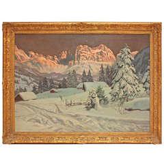Oil on Canvas by Alois Arnegger (1879-1963)