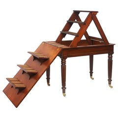 Period Regency Metamorphic Library Steps and Writing Table