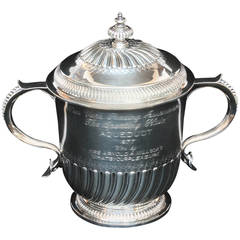 Sterling Two-Handled and Lidded Horse Racing Cup by Thomas of New Bond Street